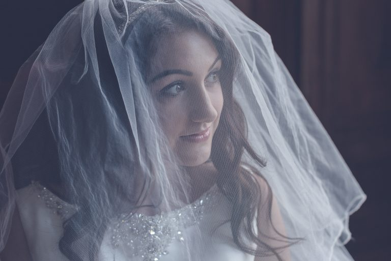 Wedding Photography showcasing veil set in historical mansion