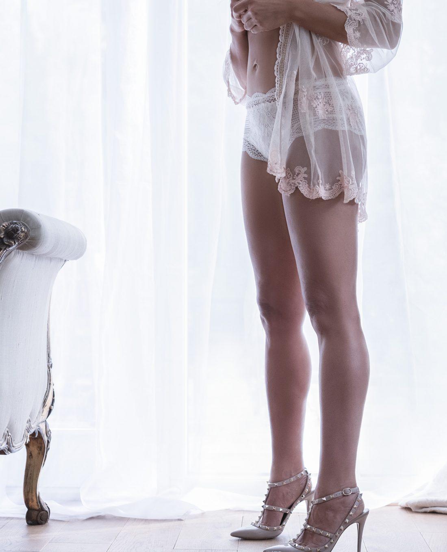 Bridal Boudoir Photography showcasing designer lace lingerie